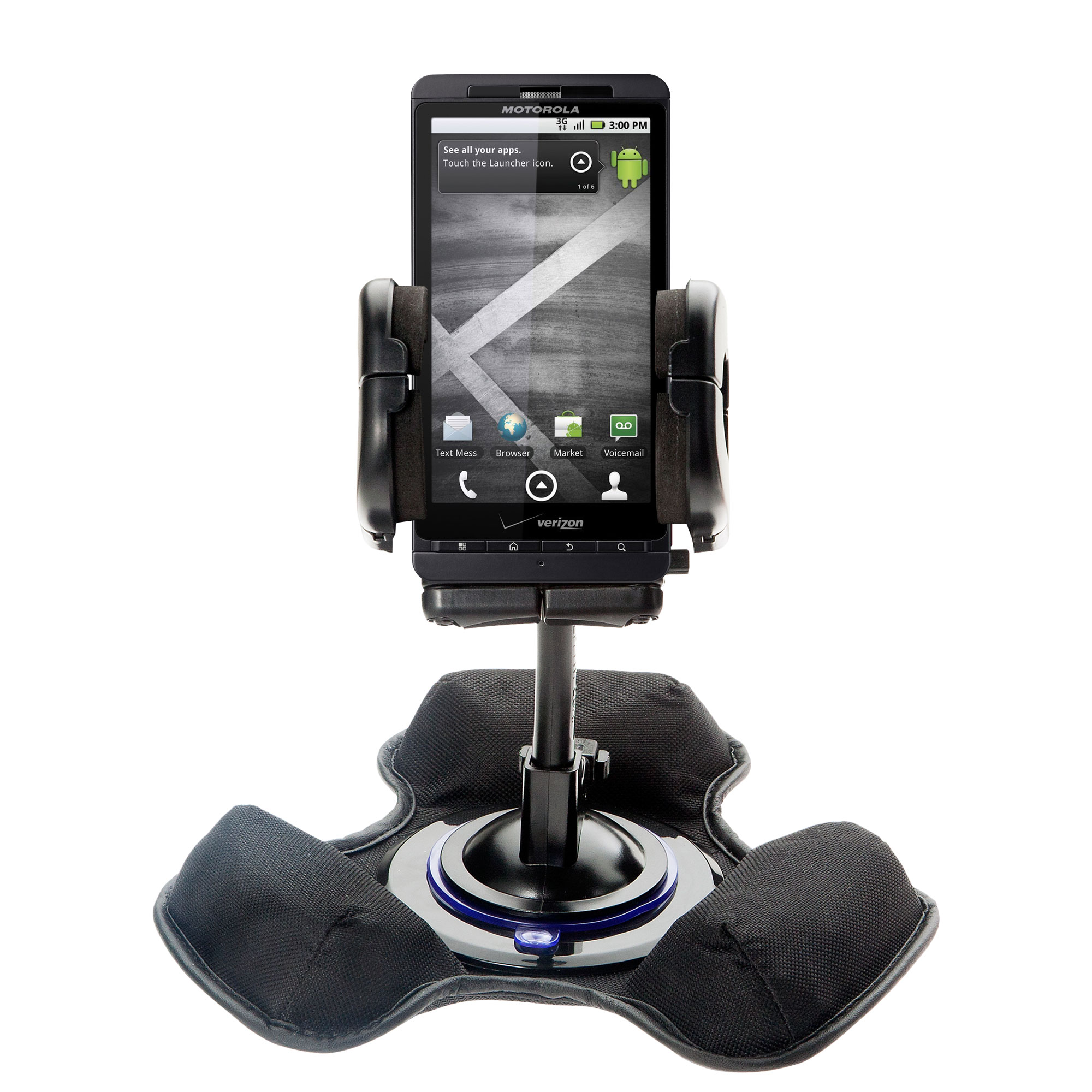 Dash and Windshield Holder compatible with the Motorola Droid X