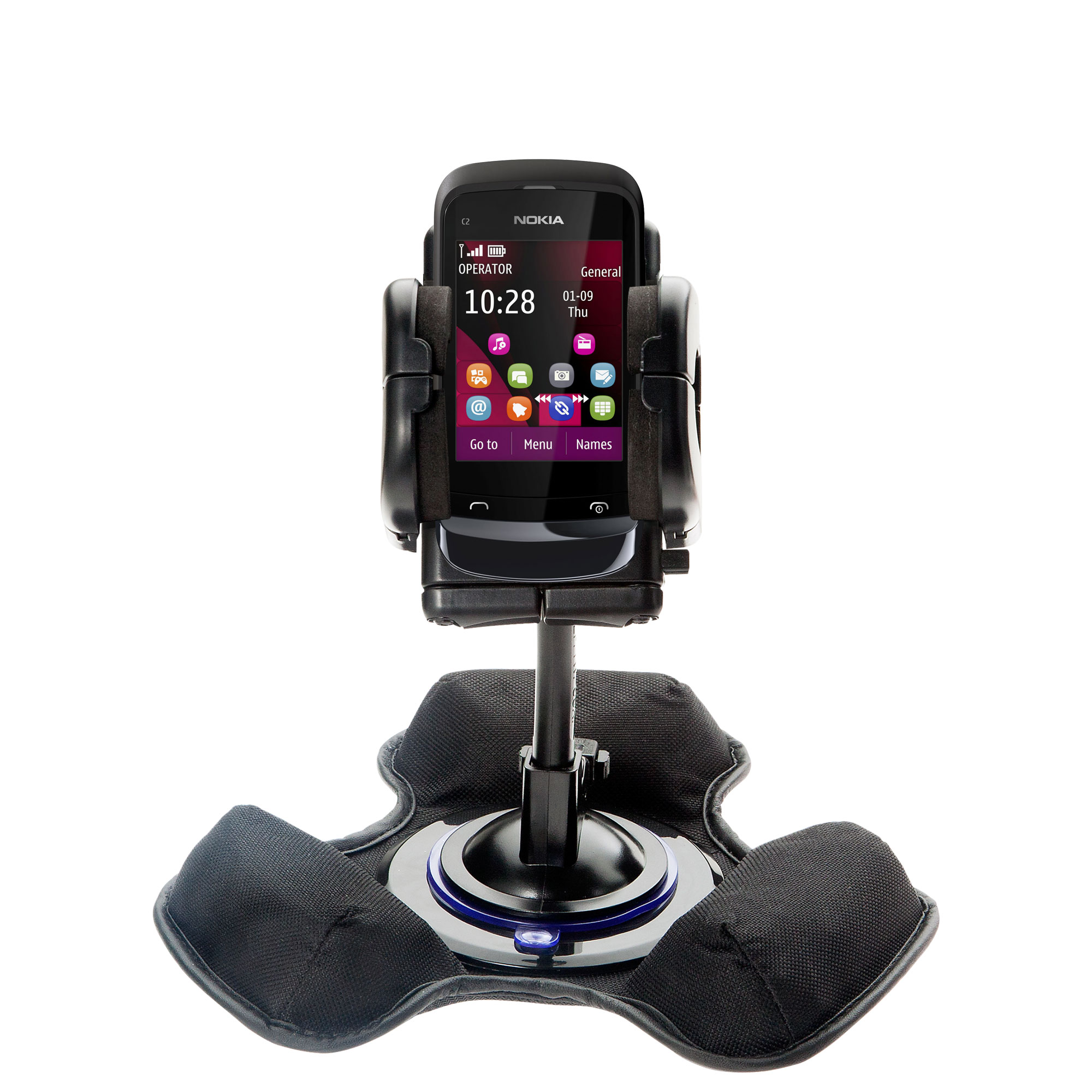 Dash and Windshield Holder compatible with the Nokia C2-O2