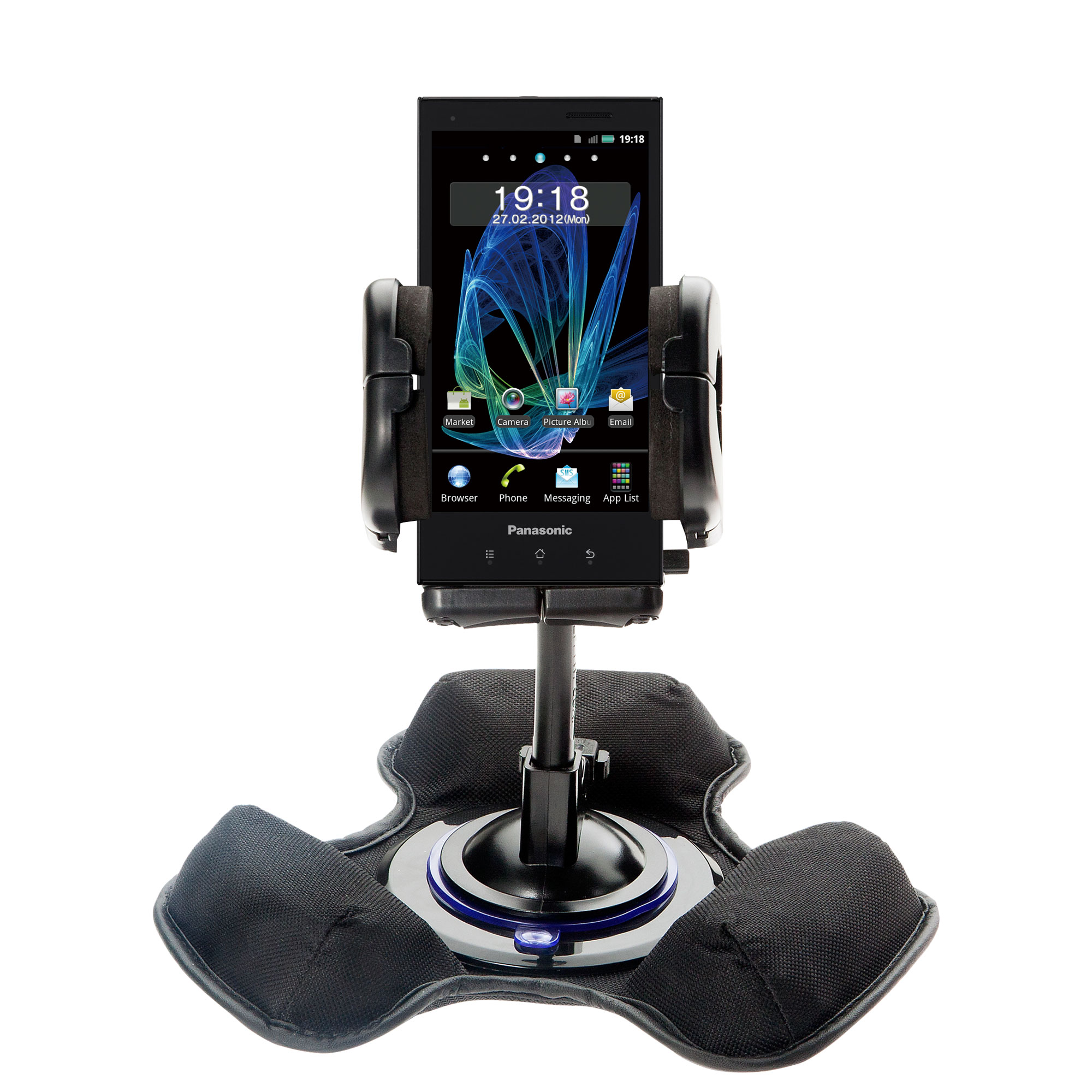 Dash and Windshield Holder compatible with the Panasonic Eluga / dL1