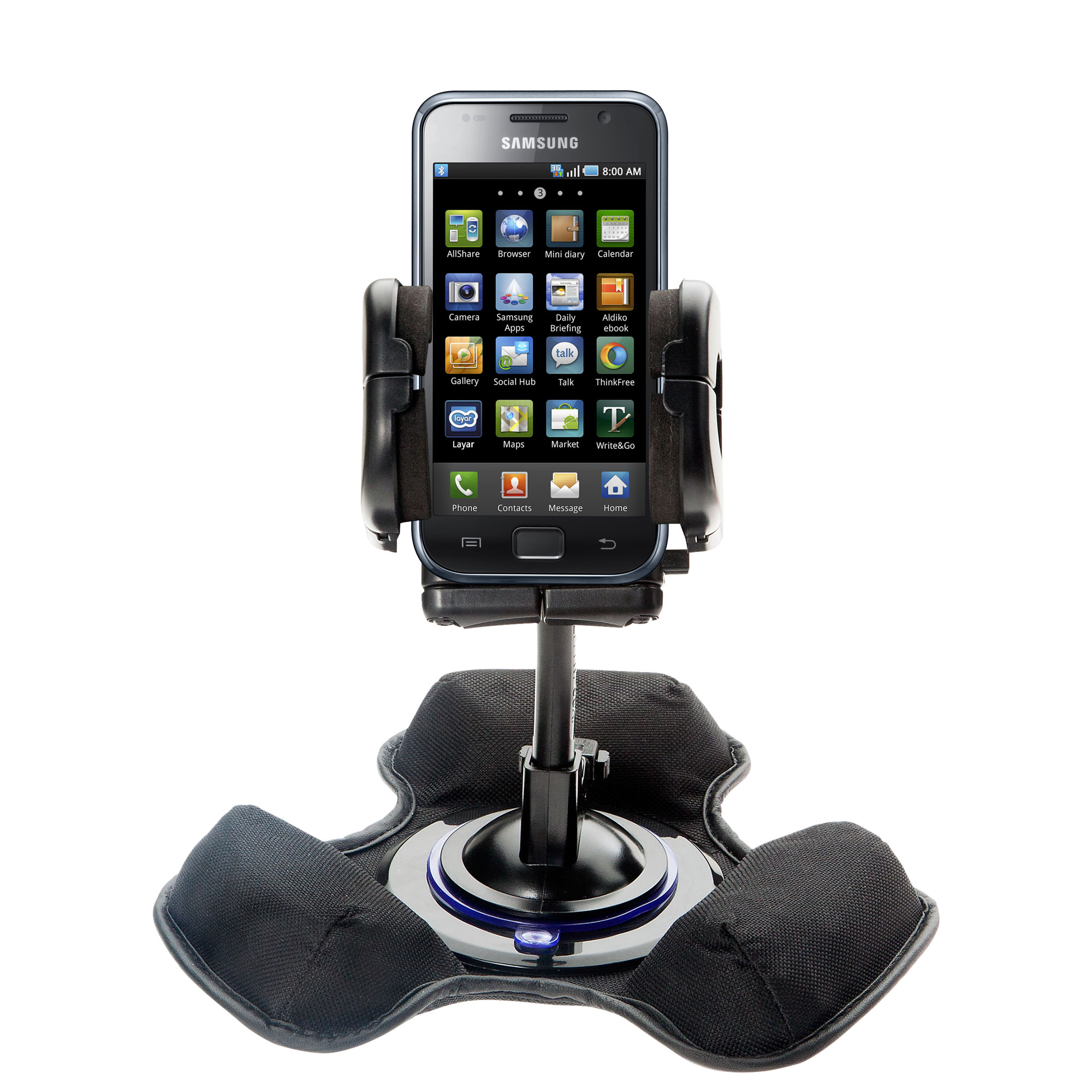 Dash and Windshield Holder compatible with the Samsung Galaxy S