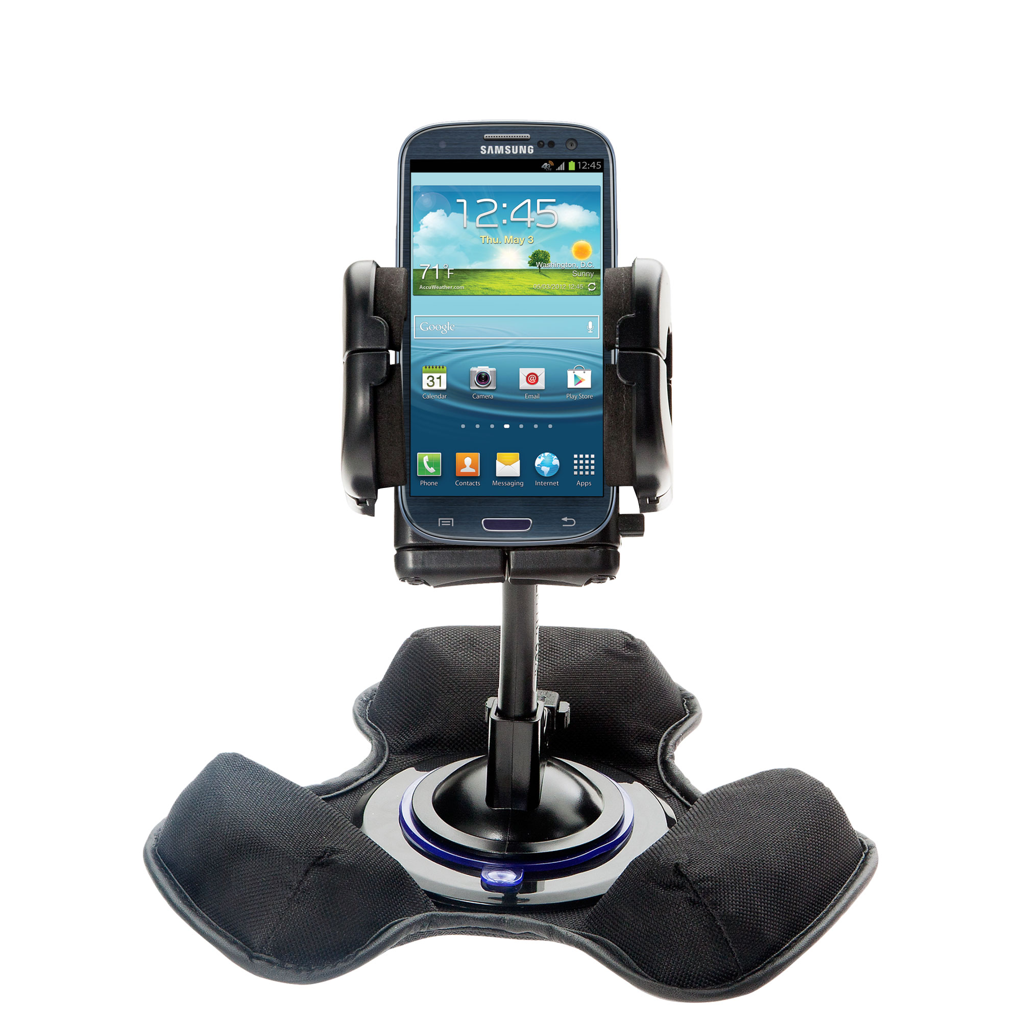 Dash and Windshield Holder compatible with the Samsung Galaxy S III