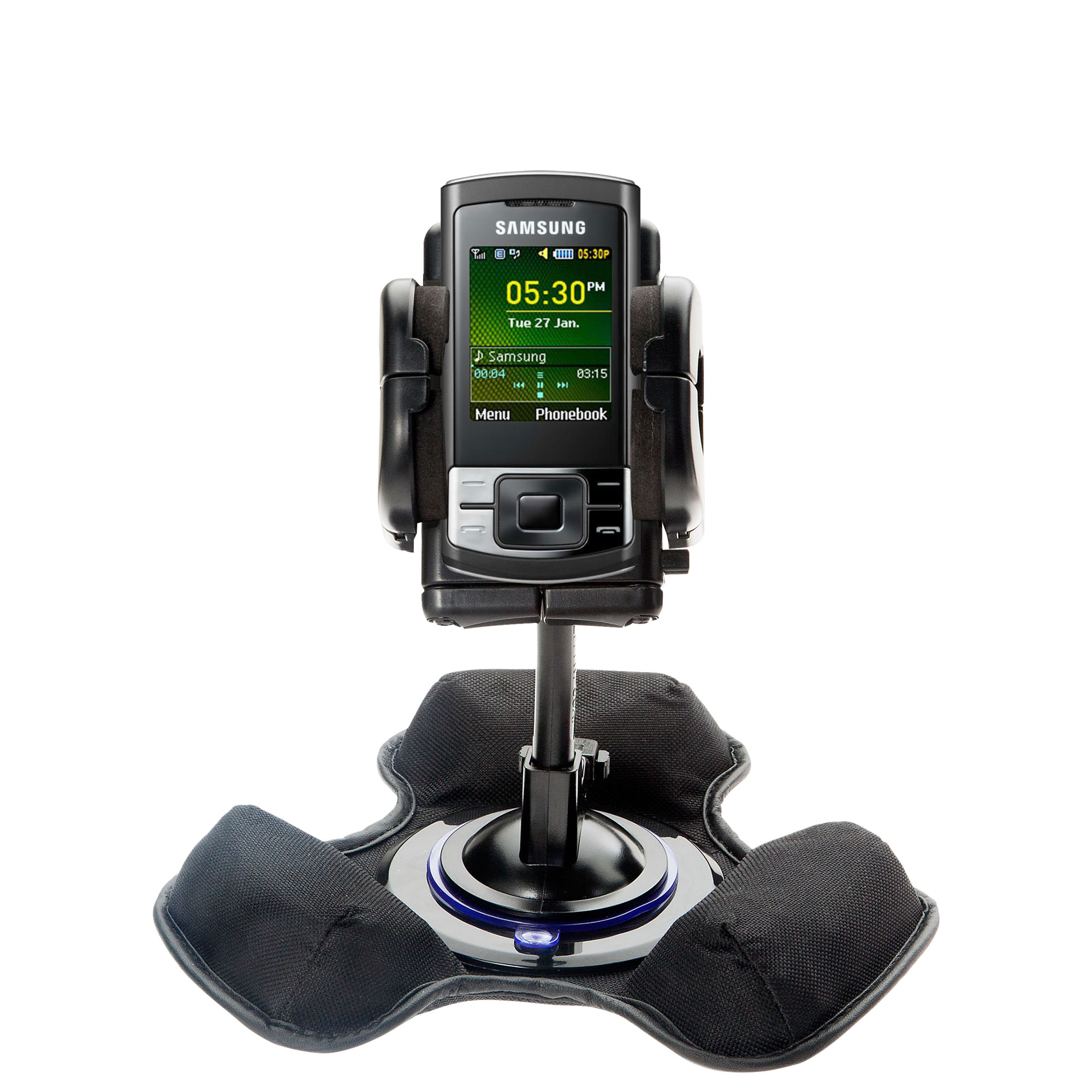 Dash and Windshield Holder compatible with the Samsung GT-C3050