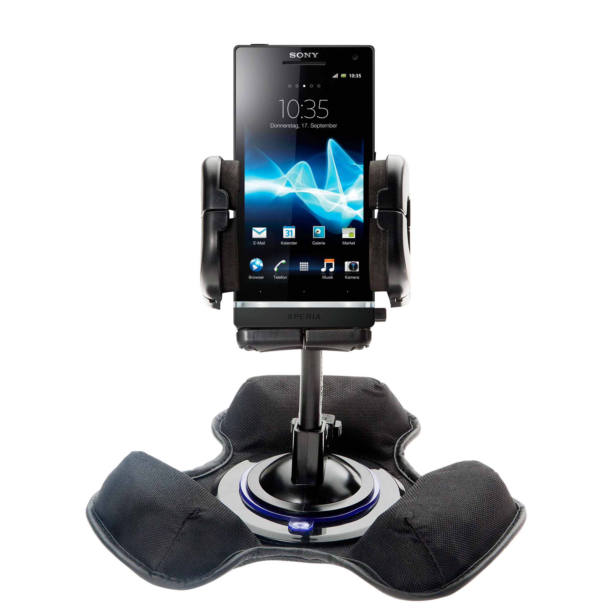 Dash and Windshield Holder compatible with the Sony Ericsson Xperia S