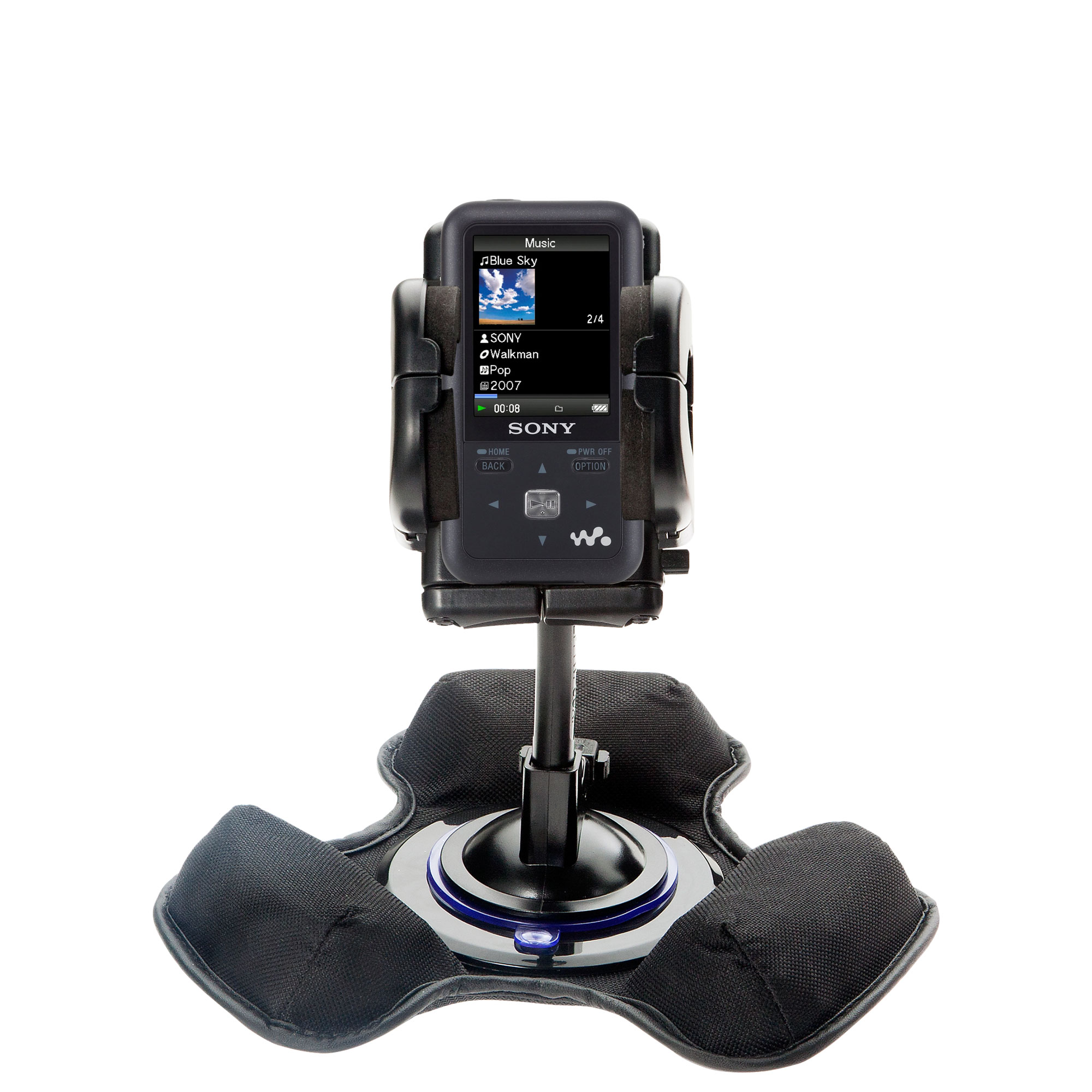 Dash and Windshield Holder compatible with the Sony Walkman NWZ-S616