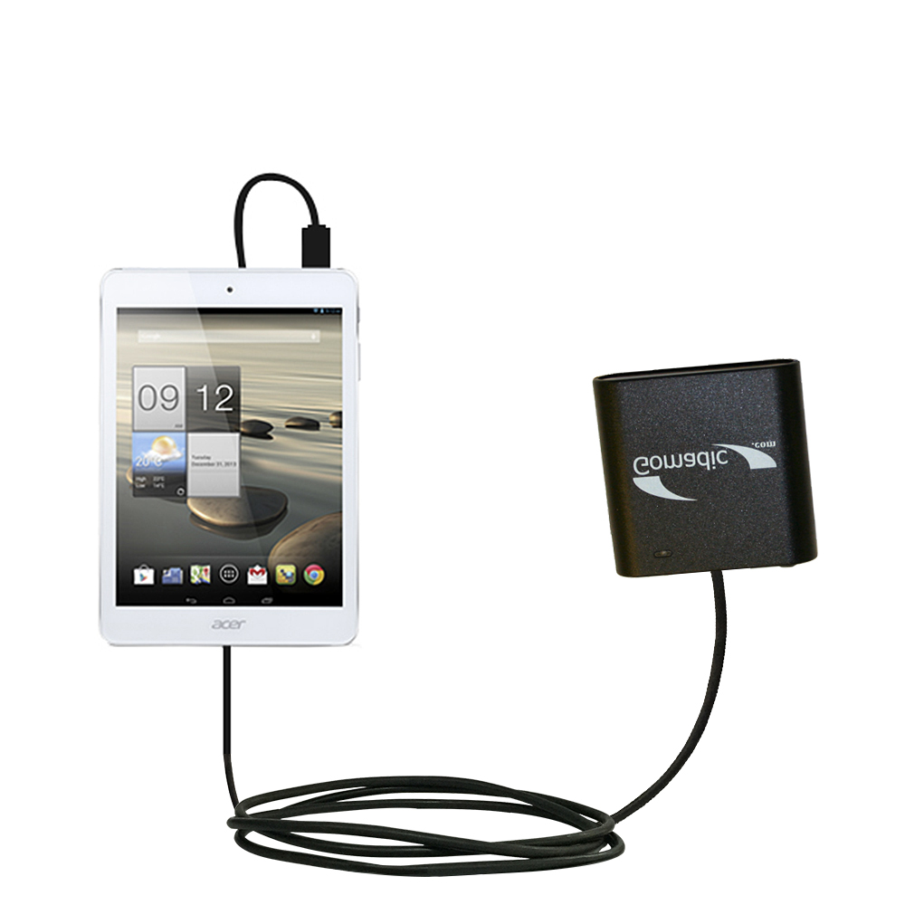 Gomadic USB Charging Data Coiled Cable designed for the Acer Iconia A1 Will charge and data sync with one unique TipExchange enabled cable