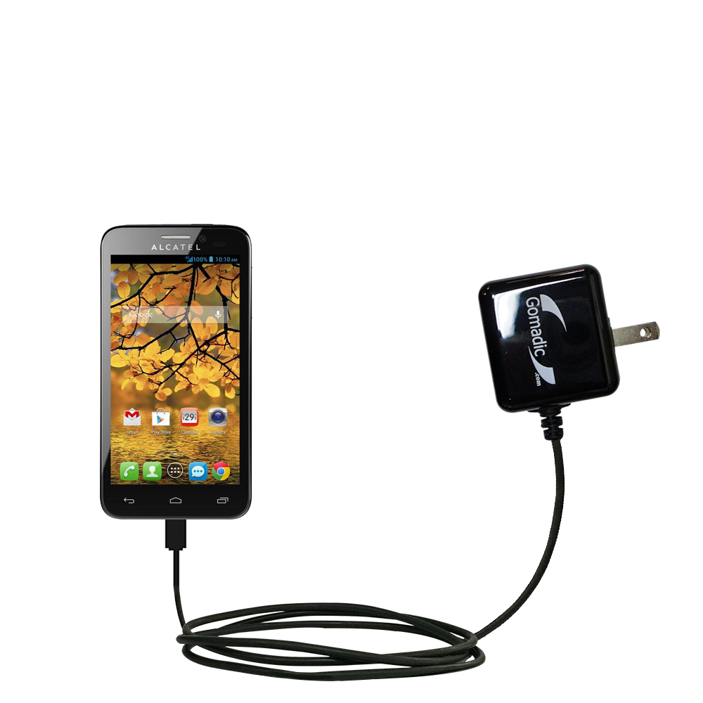 Wall Charger compatible with the Alcatel One Touch Fierce