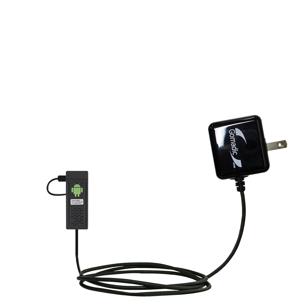Gomadic Intelligent Compact AC Home Wall Charger suitable for the Android UG802 Mini PC - High output power with a convenient; foldable plug design - Uses TipExchange Technology