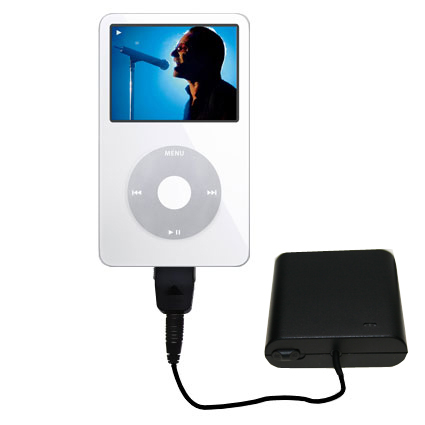 AA Battery Pack Charger compatible with the Apple iPod 5G Video (60GB)
