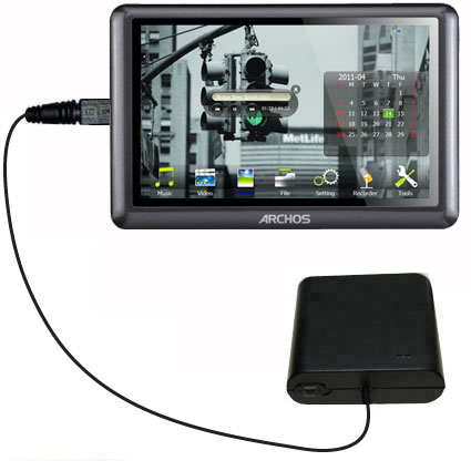AA Battery Pack Charger compatible with the Archos 50b Vision