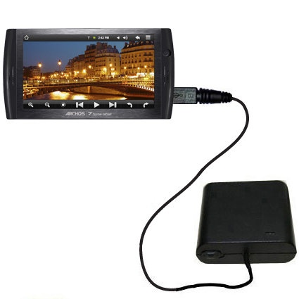 AA Battery Pack Charger compatible with the Archos 7 Home Tablet with Android