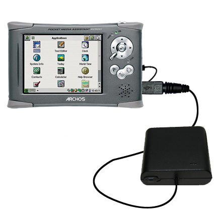 AA Battery Pack Charger compatible with the Archos PMA 400