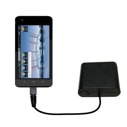 AA Battery Pack Charger compatible with the Dell Streak 5