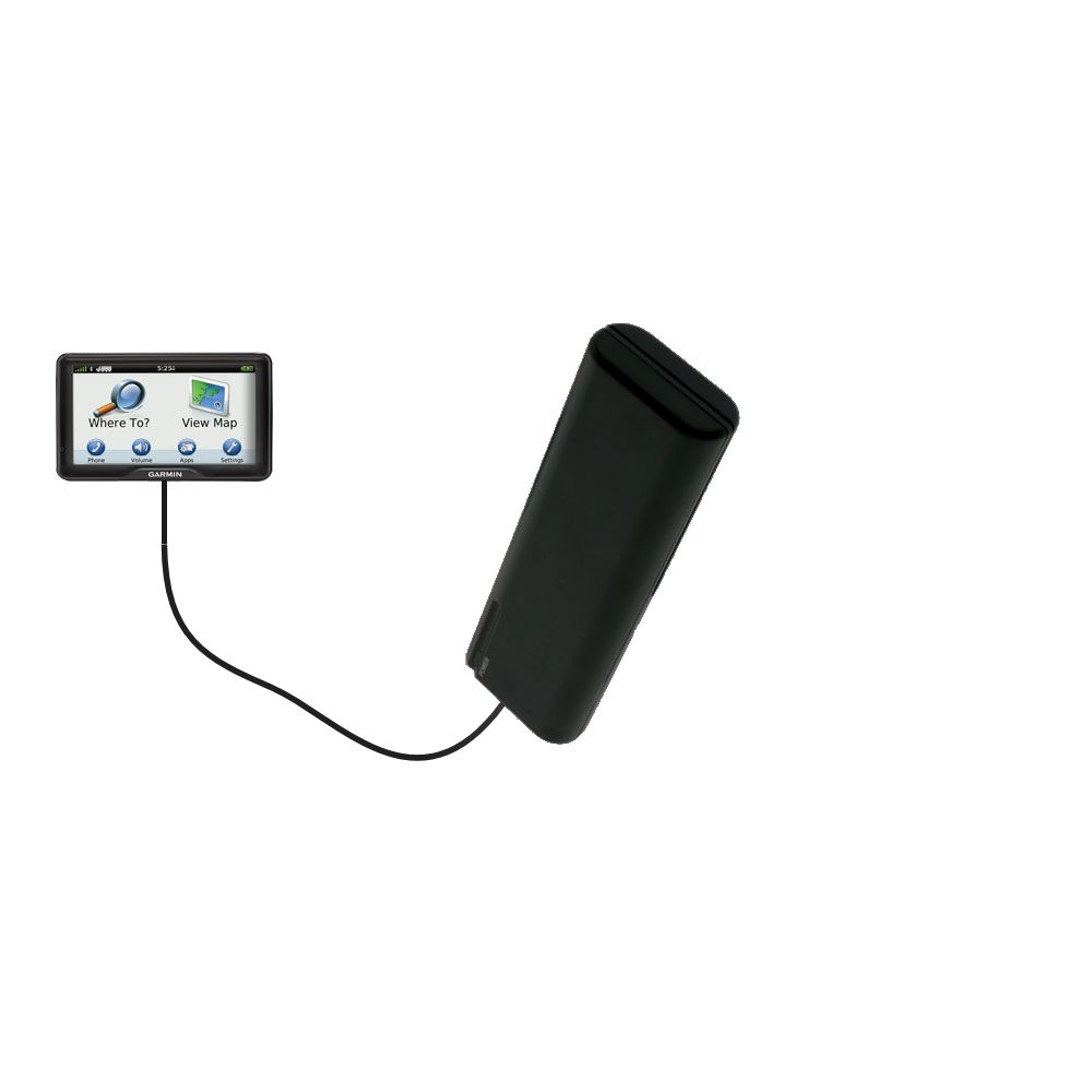 AA Battery Pack Charger compatible with the Garmin dezl 760 LMT