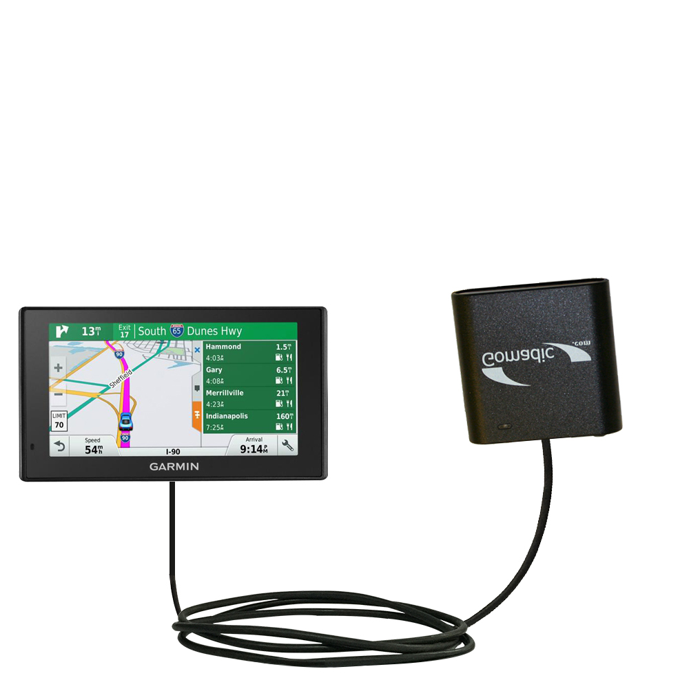 AA Battery Pack Charger compatible with the Garmin DriveSmart 70LMT
