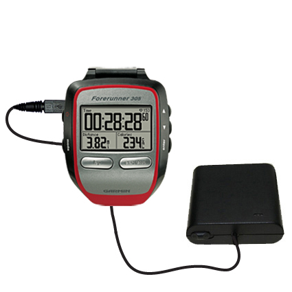 AA Battery Pack Charger compatible with the Garmin Forerunner 305