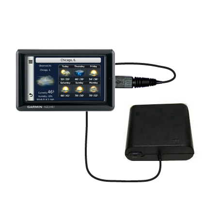AA Battery Pack Charger compatible with the Garmin Nuvi 1695