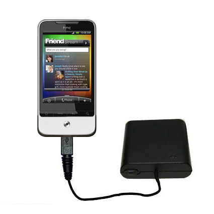 AA Battery Pack Charger compatible with the HTC Legend