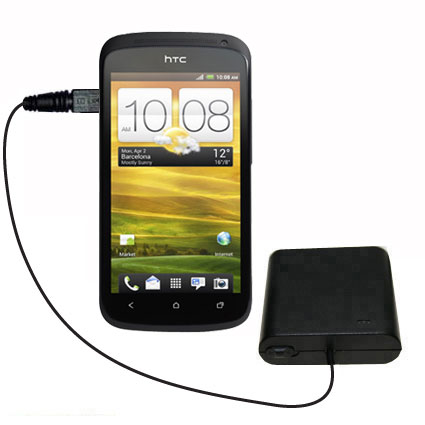 AA Battery Pack Charger compatible with the HTC One S / Ville