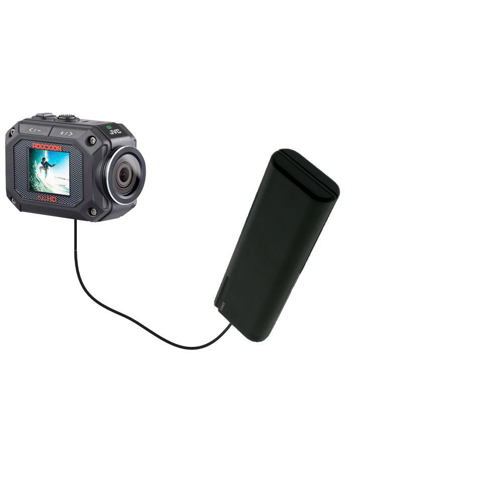 AA Battery Pack Charger compatible with the JVC GC-XA2 Action Camera