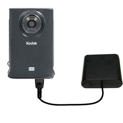 AA Battery Pack Charger compatible with the Kodak Zm2 Mini Video Camera