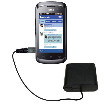 AA Battery Pack Charger compatible with the LG Cookie Music