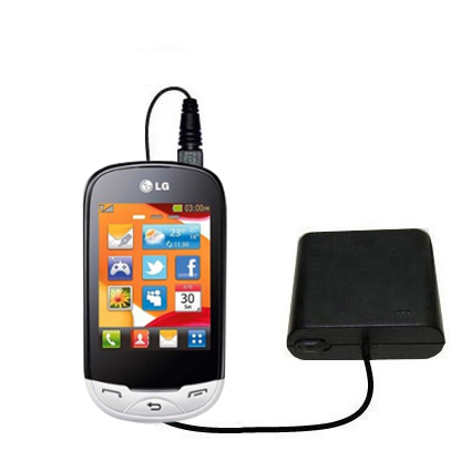 AA Battery Pack Charger compatible with the LG EGO Wi-Fi