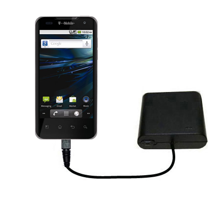 AA Battery Pack Charger compatible with the LG G2x