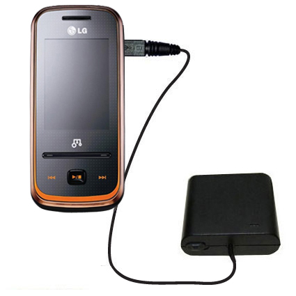 AA Battery Pack Charger compatible with the LG GM310