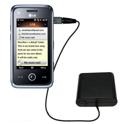 AA Battery Pack Charger compatible with the LG GM730