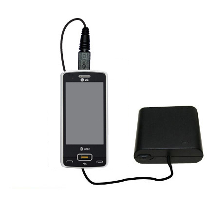 AA Battery Pack Charger compatible with the LG GW820 eXpo