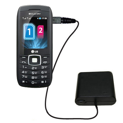 AA Battery Pack Charger compatible with the LG GX300