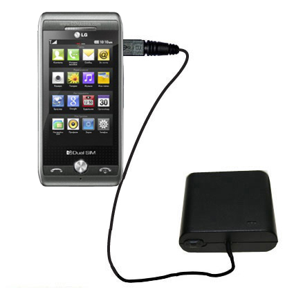 AA Battery Pack Charger compatible with the LG GX500