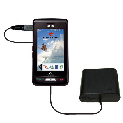 AA Battery Pack Charger compatible with the LG KP550 Rip Curl