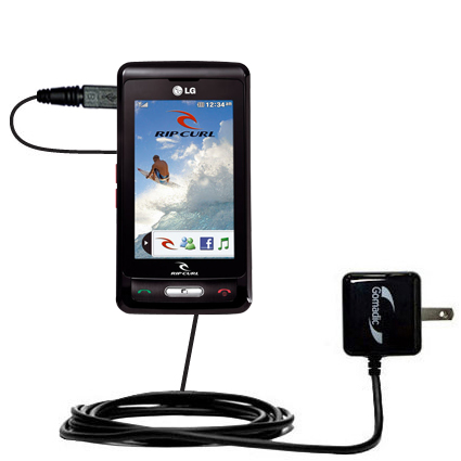 Wall Charger compatible with the LG KP550 Rip Curl