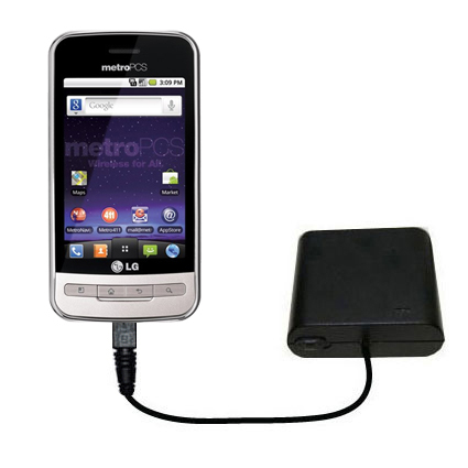 AA Battery Pack Charger compatible with the LG MS690