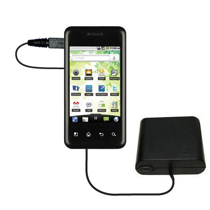 AA Battery Pack Charger compatible with the LG Optimus Chic