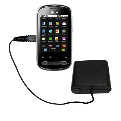 AA Battery Pack Charger compatible with the LG Optimus Me P350