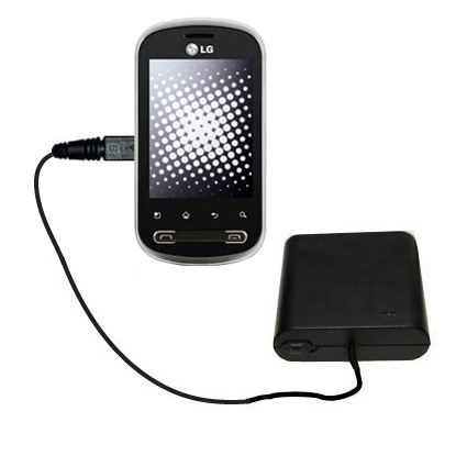 AA Battery Pack Charger compatible with the LG Pecan