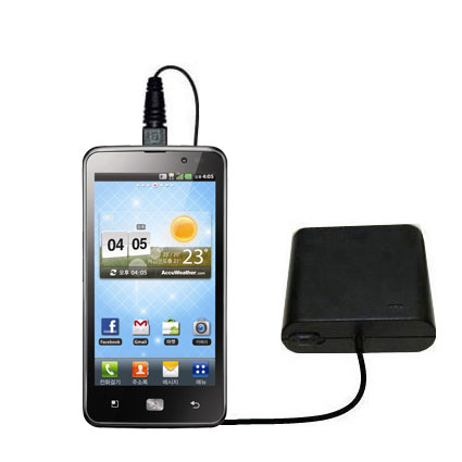 AA Battery Pack Charger compatible with the LG Revolution 2