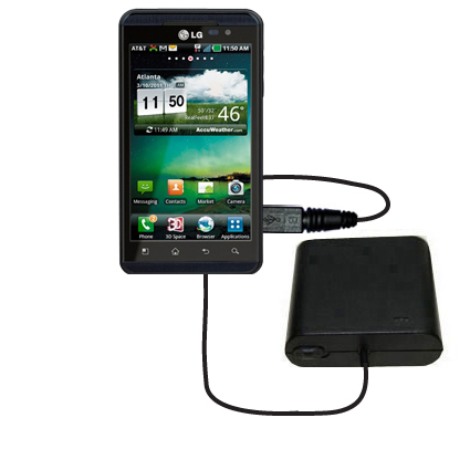 AA Battery Pack Charger compatible with the LG Thrill 4G