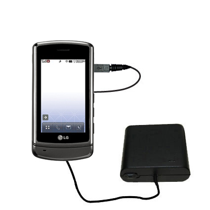 AA Battery Pack Charger compatible with the LG UX830 UX840