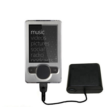 AA Battery Pack Charger compatible with the Microsoft Zune (2nd and Latest Generation)