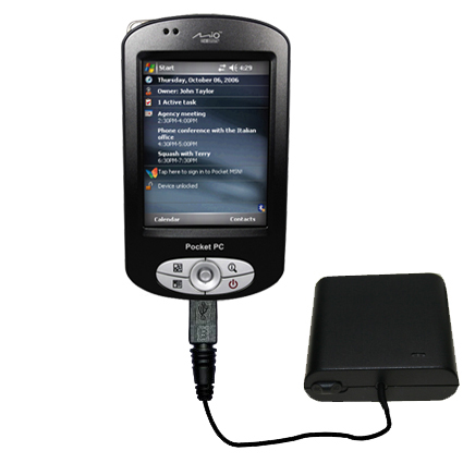 AA Battery Pack Charger compatible with the Mio P550