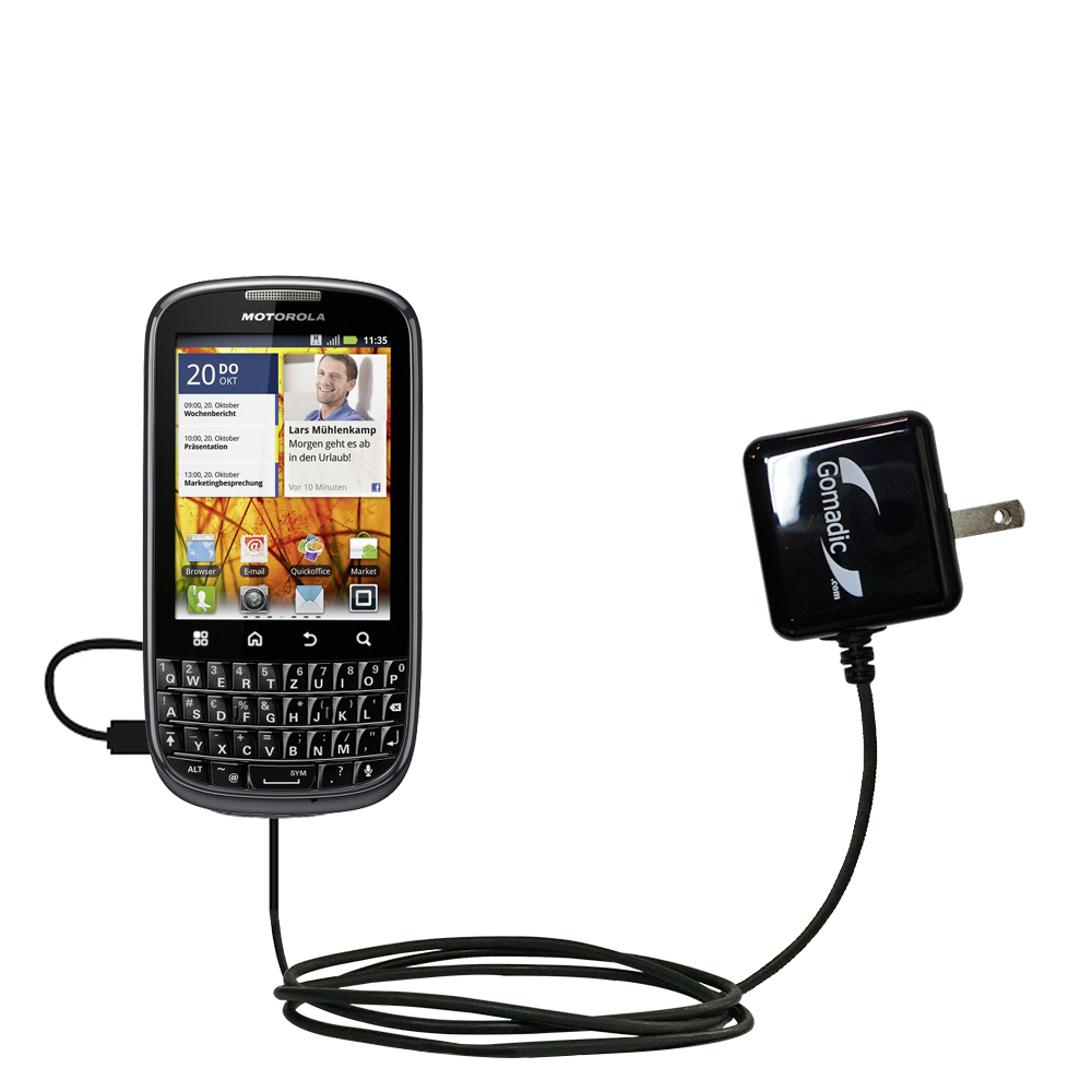 Gomadic USB Charging Data Coiled Cable for the Motorola Droid Pro Will charge and data sync with one unique TipExchange enabled cable