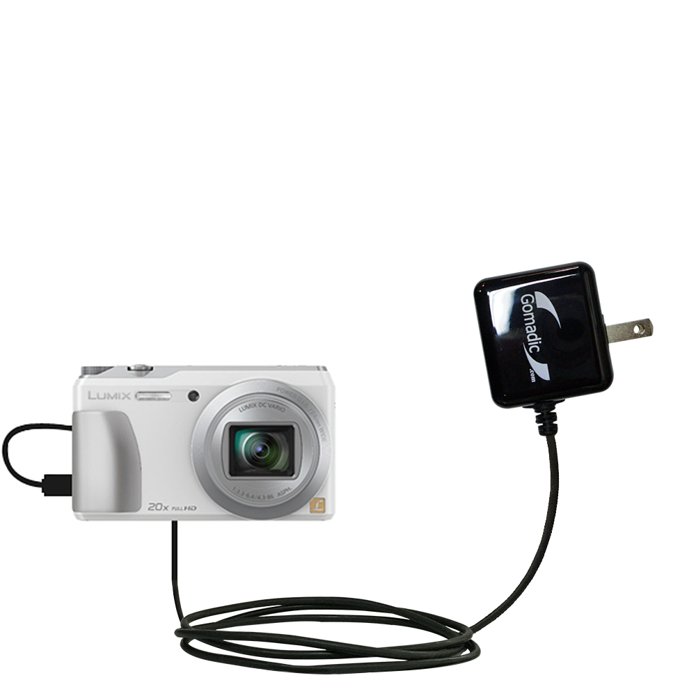 Wall Charger compatible with the Panasonic Lumix DMC-ZS20W