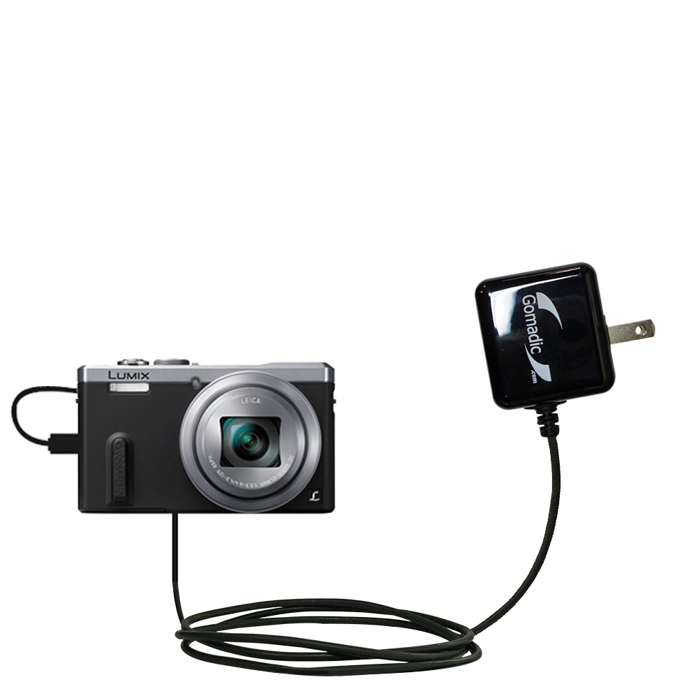 Wall Charger compatible with the Panasonic Lumix DMC-ZS40