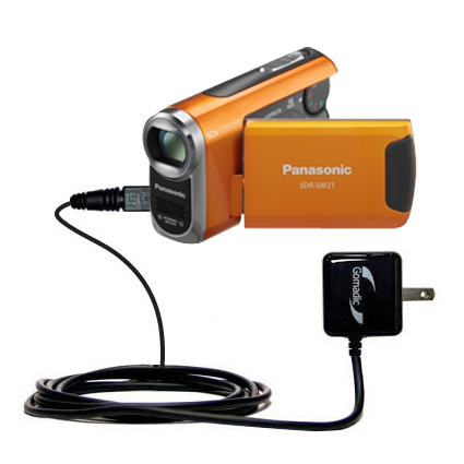Wall Charger compatible with the Panasonic SDR-SW21 Video Camera
