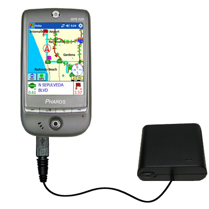 AA Battery Pack Charger compatible with the Pharos GPS 525E