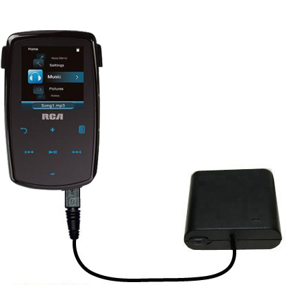 AA Battery Pack Charger compatible with the RCA M3904 Lyra Digital Media Player