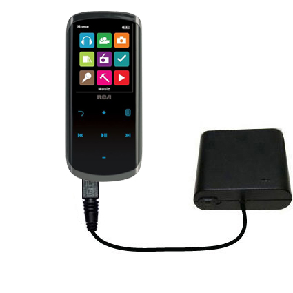 AA Battery Pack Charger compatible with the RCA M4608 Lyra Digital Media Player